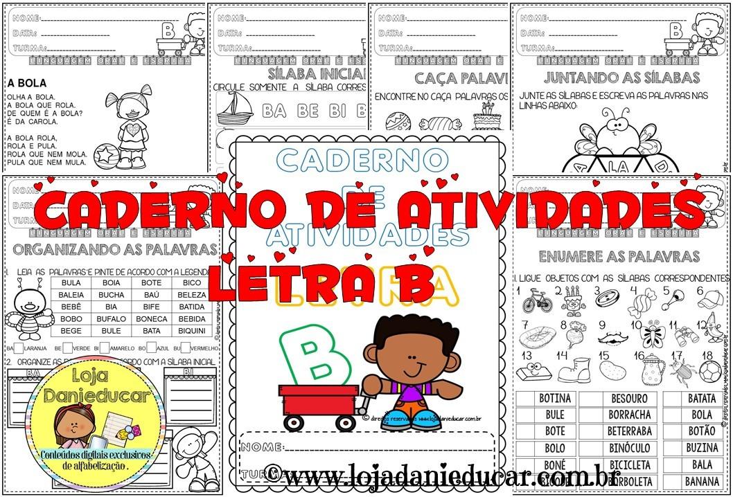 Imagem do produto Caderno de atividades - letra B