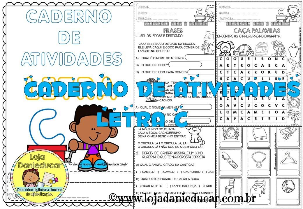 Imagem do produto Caderno de atividades - letra C