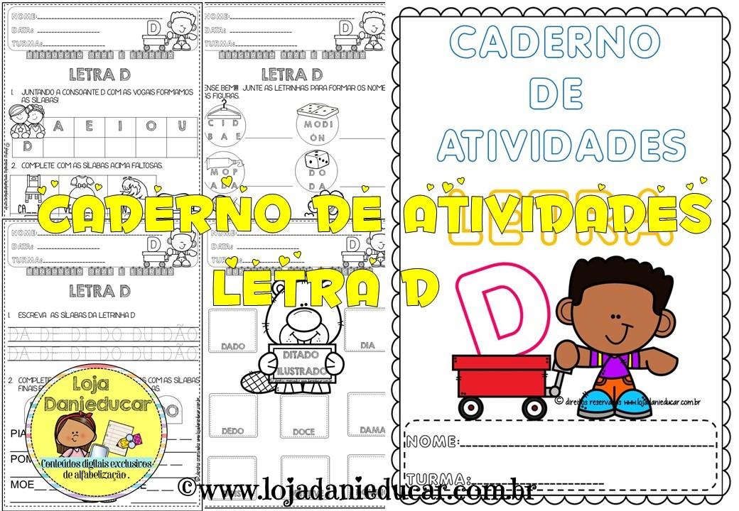 Imagem do produto Caderno de atividades - letra D