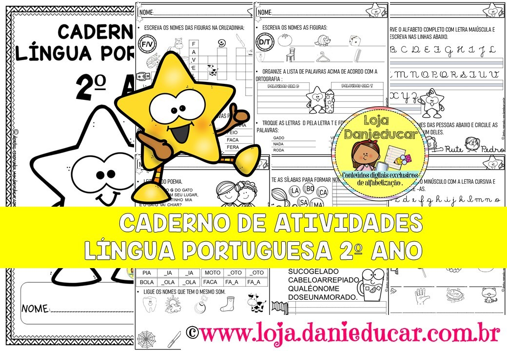 Imagem do produto Caderno de atividades para 2º ano - Língua Portuguesa