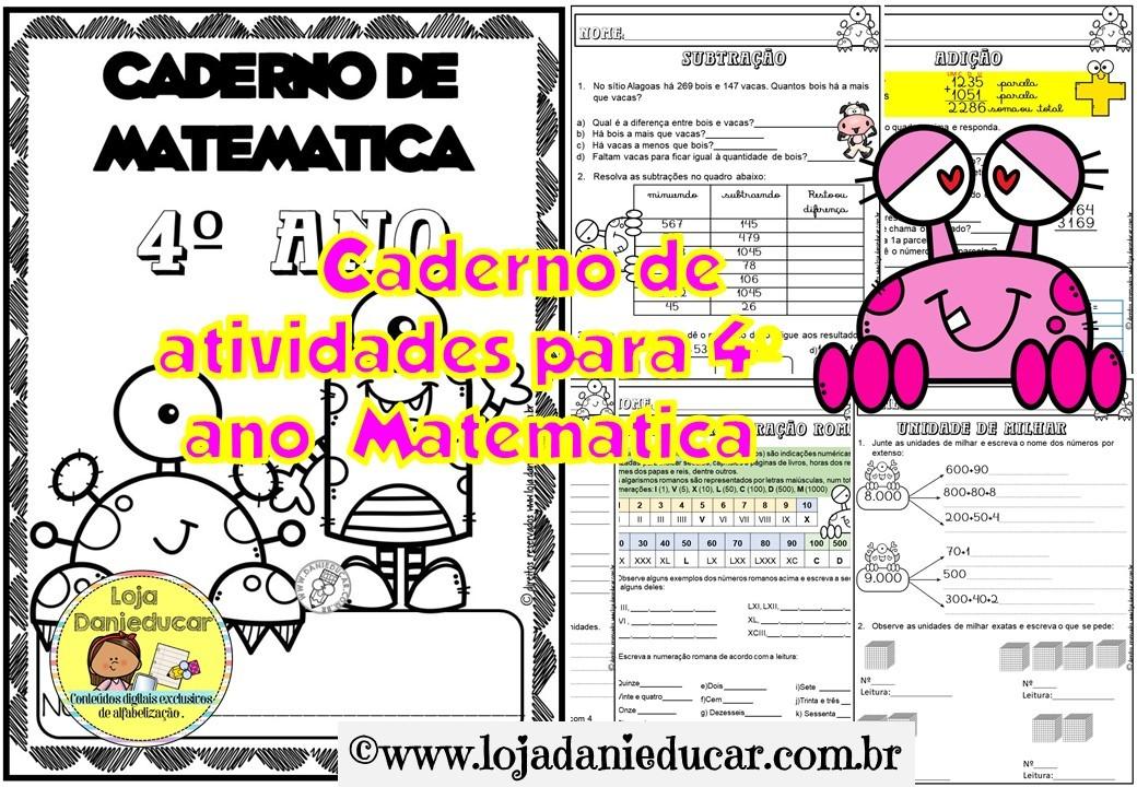 Imagem do produto Caderno de atividades para 4º ano - Matemática