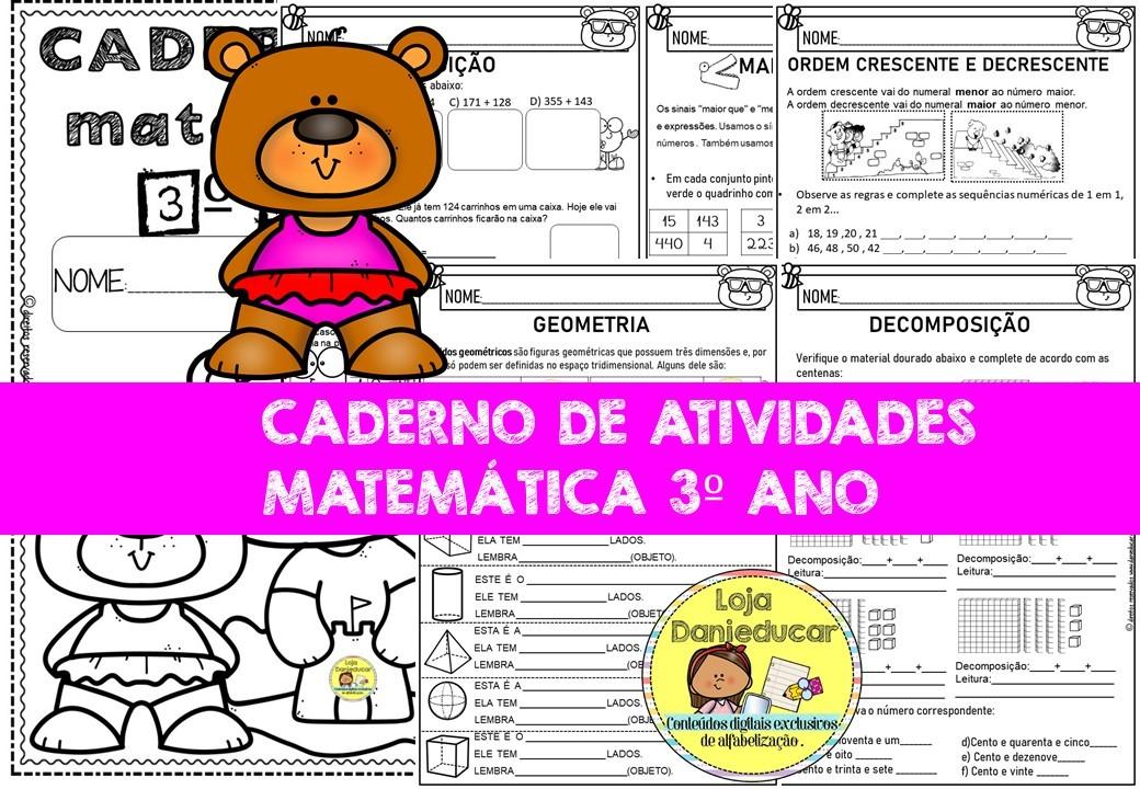 Imagem do produto Caderno de matemática - 3º ano