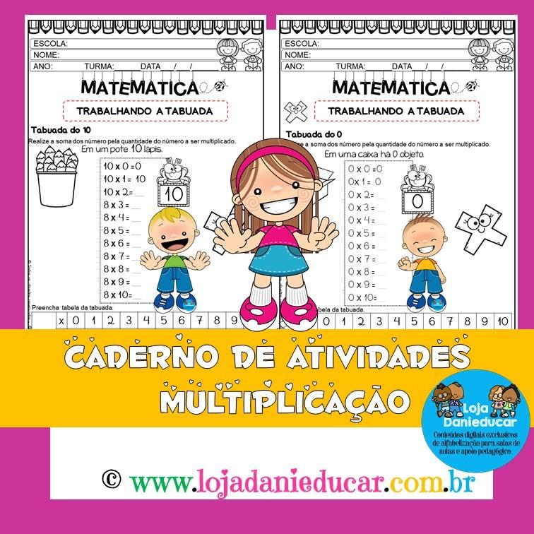 Imagem do produto Caderno de matemática - tabuada da multiplicação