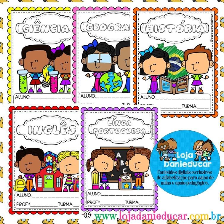 Imagem do produto Capas para caderno - coloridas - crianças