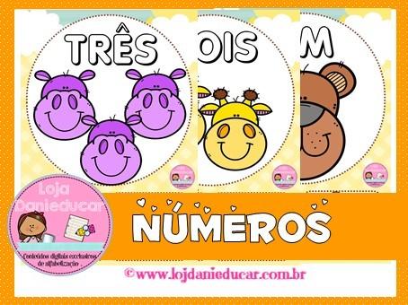 Imagem do produto Cartaz de parede - números 1 ao 10 - animais