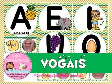 Imagem do produto Cartaz de parede - vogais - libras e boquinhas