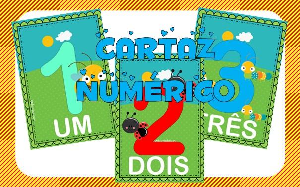 Imagem do produto Cartazes com números - 1 ao 10 - Bichinhos do jardim