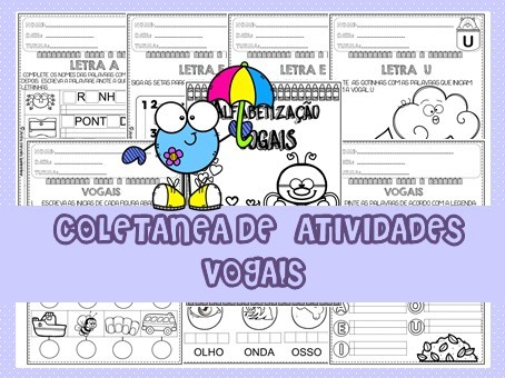 Imagem do produto Coletânea de Atividades - vogais