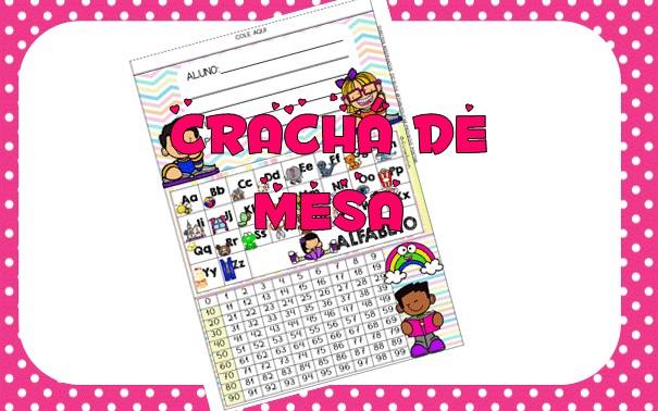 Imagem do produto Crachá de mesa - Alfabeto e numerais