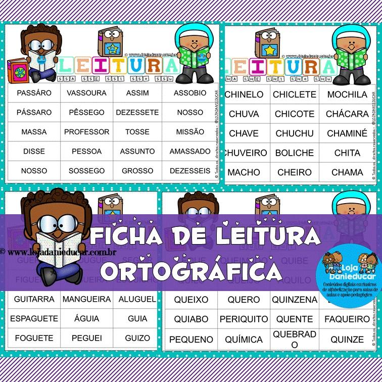 Imagem do produto Fichas de leitura - dificuldades ortgráficas