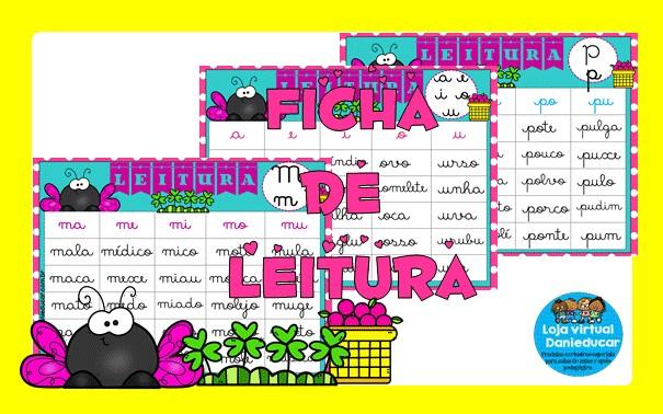Imagem do produto Fichas de leitura - letra cursiva