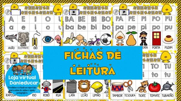 Imagem do produto Fichas de leitura - silabas e palavras