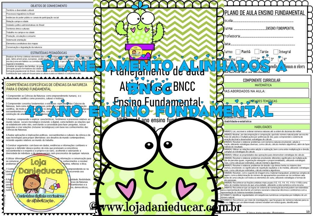Imagem do produto Planejamento de aula - BNCC - 4º ano - Ensino fundamental