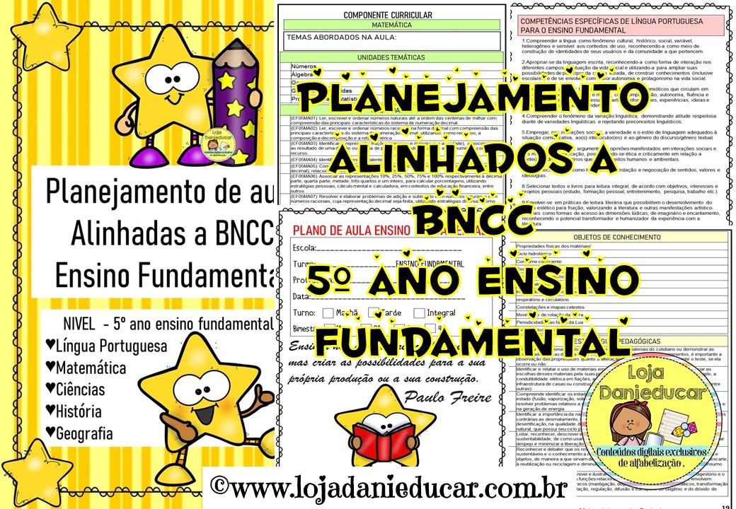 Imagem do produto Planejamento de aula - BNCC - 5º ano - Ensino fundamental