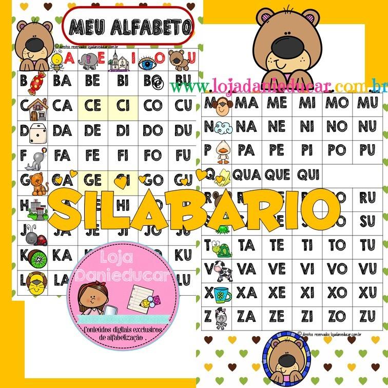 Silabario Alfabeto Ursinho Lojadanieducar