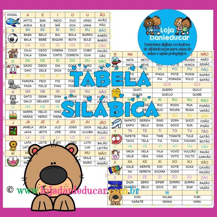 Imagem do produto Silabário colorido com palavras