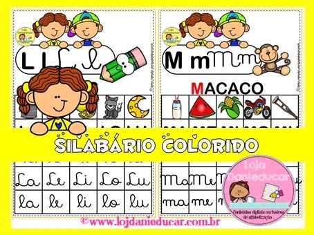 Imagem do produto Silabário colorido e ilustrado 4 formas
