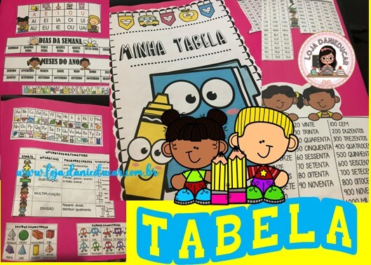 Imagem do produto Tabela para montar - língua portuguesa e matemática
