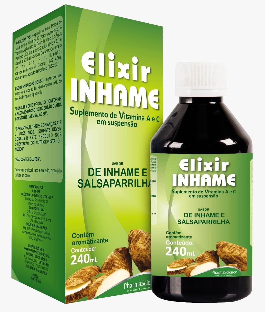 Foto 1 - Elixir de Inhame Sabor de Inhame e Salsaparrilha C/240ml