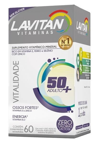Foto 1 - Lavitan Vitalidade 50+ Adulto (Ossos Fortes) C/60 Comp.