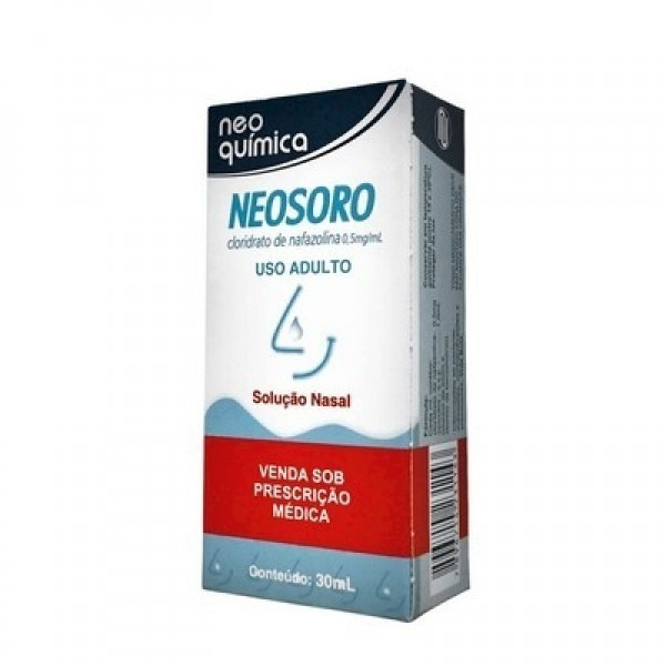 Foto 1 - Neosoro 0,5mg/ml Uso Nasal Solução Gotas C/30ml