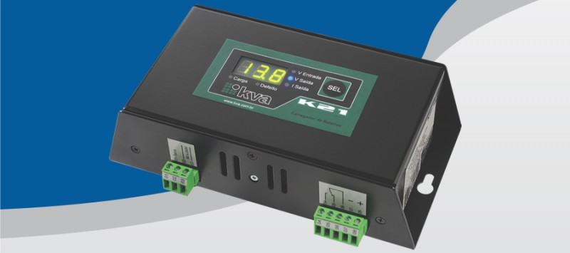 Foto 1 - Carregador De Baterias K21 12V/24V