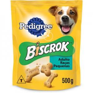 Biscoito Pedigree Biscrok Mini para Cães Adultos de Raças Pequenas