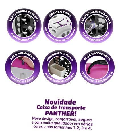 Foto3 - Caixa de Transporte Para Cães e Gatos Panther