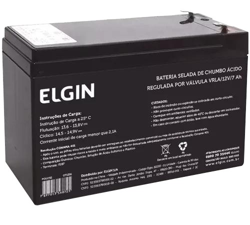 Imagem do produto Bateria Selada De Chumbo Vrla 12v Alarme, Cerca Eletrica - Elgin