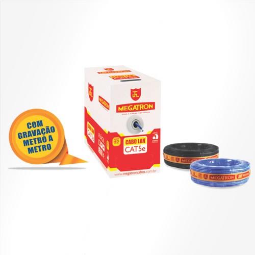 Imagem do produto CABO DE REDE LAN 4PX24AWGNBR - Constituído por condutores 100% cobre com isolação termoplástico e reunidos, protegido por uma capa externa em PVC;