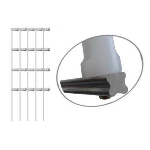 Imagem do produto Haste Para Cerca Elétrica Tipo Estrela Em Ferro Galvanizado Com 4 Isoladores Tamanho 75cm - 5 Unidades