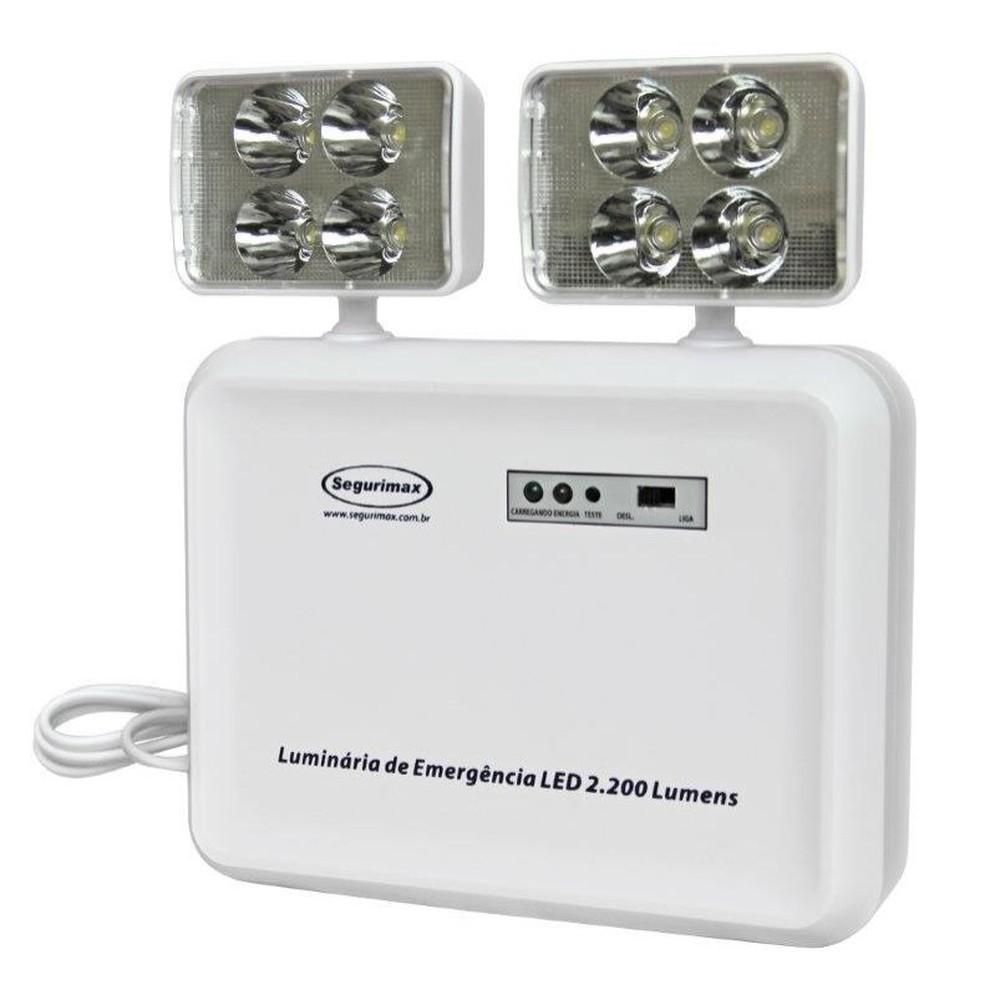 Imagem do produto Iluminação de Emergência LED 2200 Lumens 2 Faróis - Segurimax
