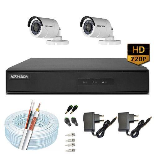 Imagem do produto KIT 2 Câmeras Hikvision + DVR Hikvision 4 Canais HD + Acessórios