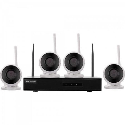 Imagem do produto Kit de Câmeras Wi-Fi IP Hikvision 4 Câmeras - NK4W0- S/HD