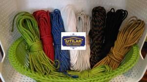 Foto1 - Kit de corda com ponteiras para Varal Individual com 5 varetas
