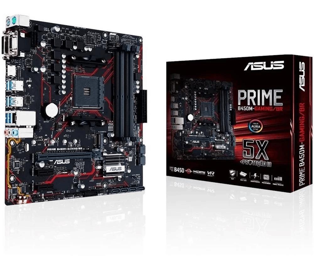 Foto 1 - Placa Mãe Asus Prime B450-m Gaming