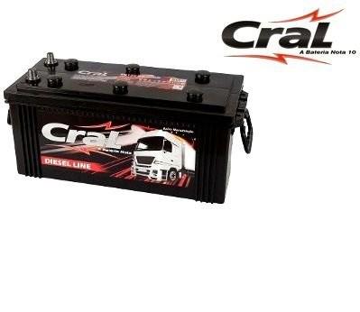 Foto2 - Bateria Cral 180 Ah - (Positivo Direito / Esquerdo) - 15 Meses de garantia