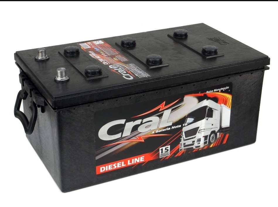 Foto 1 - Bateria Cral 180 Ah - (Positivo Direito / Esquerdo) - 15 Meses de garantia
