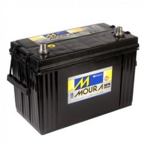 Foto2 - Bateria Moura 100 Ah - Caixa Alta - Original de Montadora - 15 Meses de Garantia