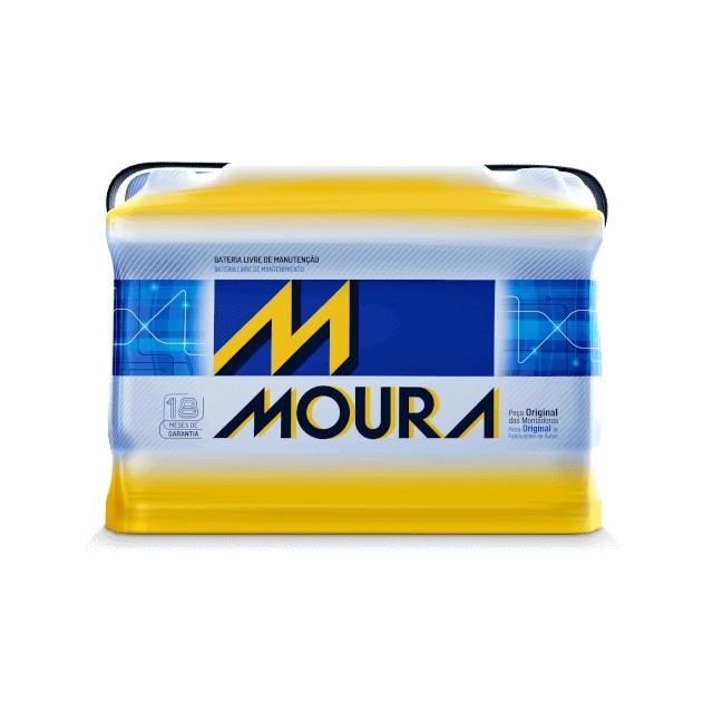 Foto 1 - Bateria Moura 60 Ah - Original - Caixa Baixa - 24 Meses de Garantia