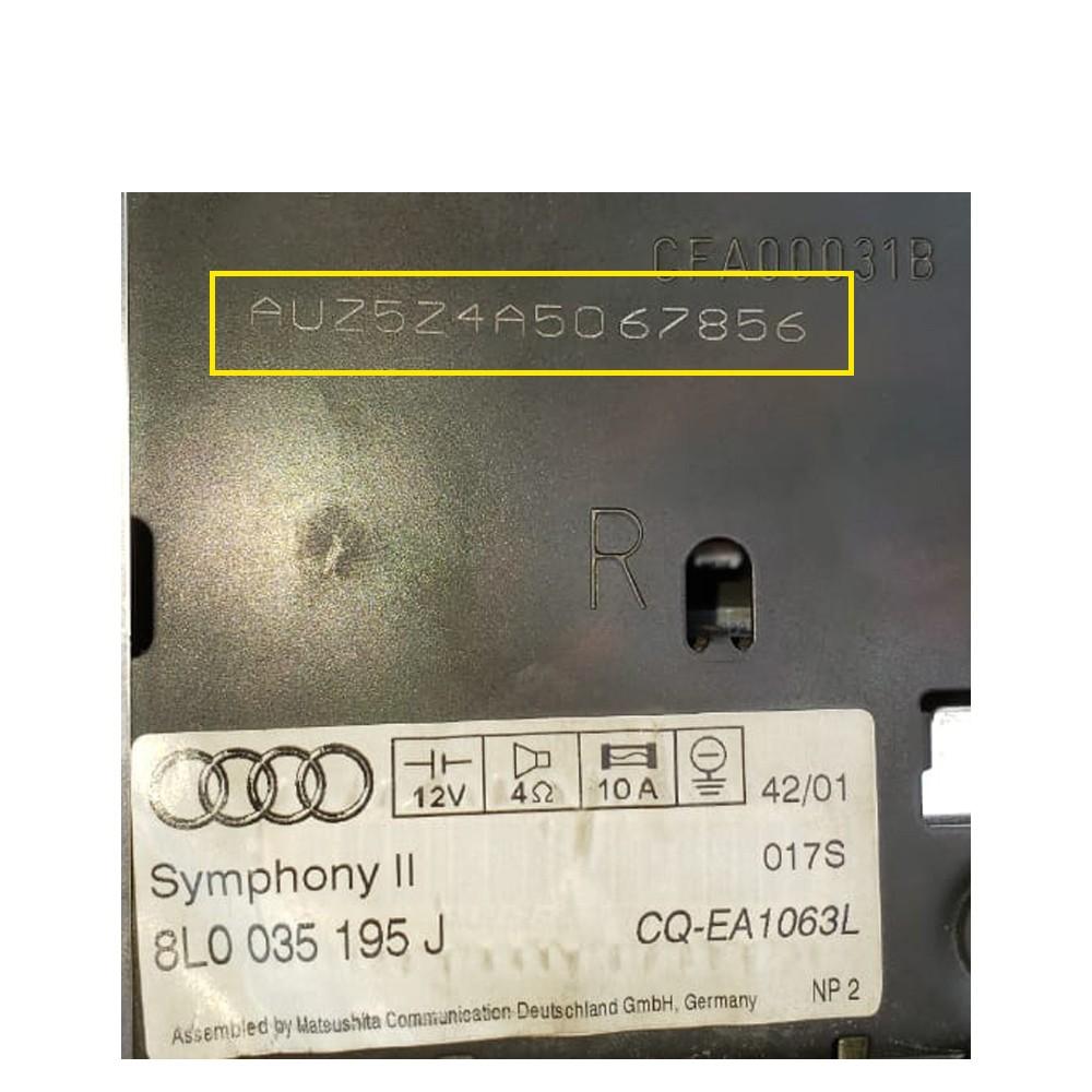 Foto7 - Código de Desbloqueio de Rádio Original Audi