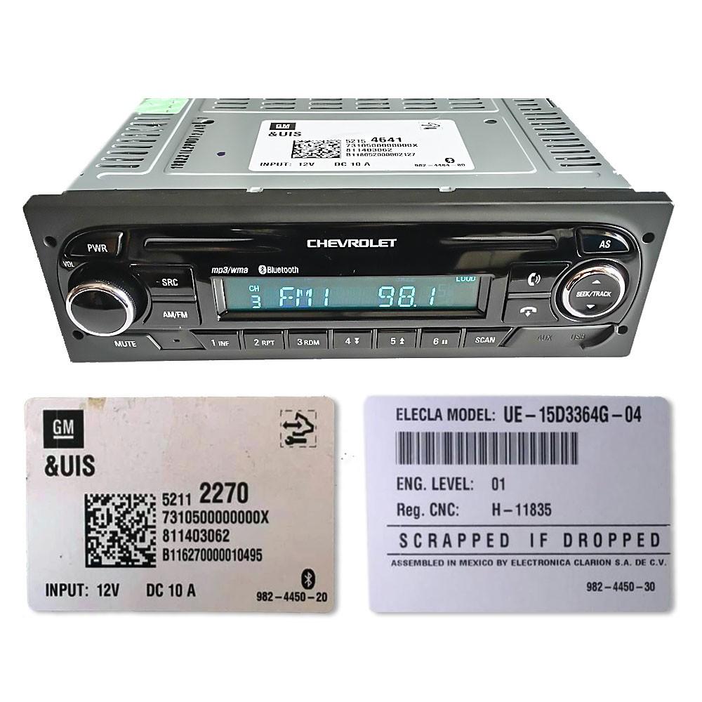 Foto2 - Código de Desbloqueio de Rádio Original GM Chevrolet Clarion