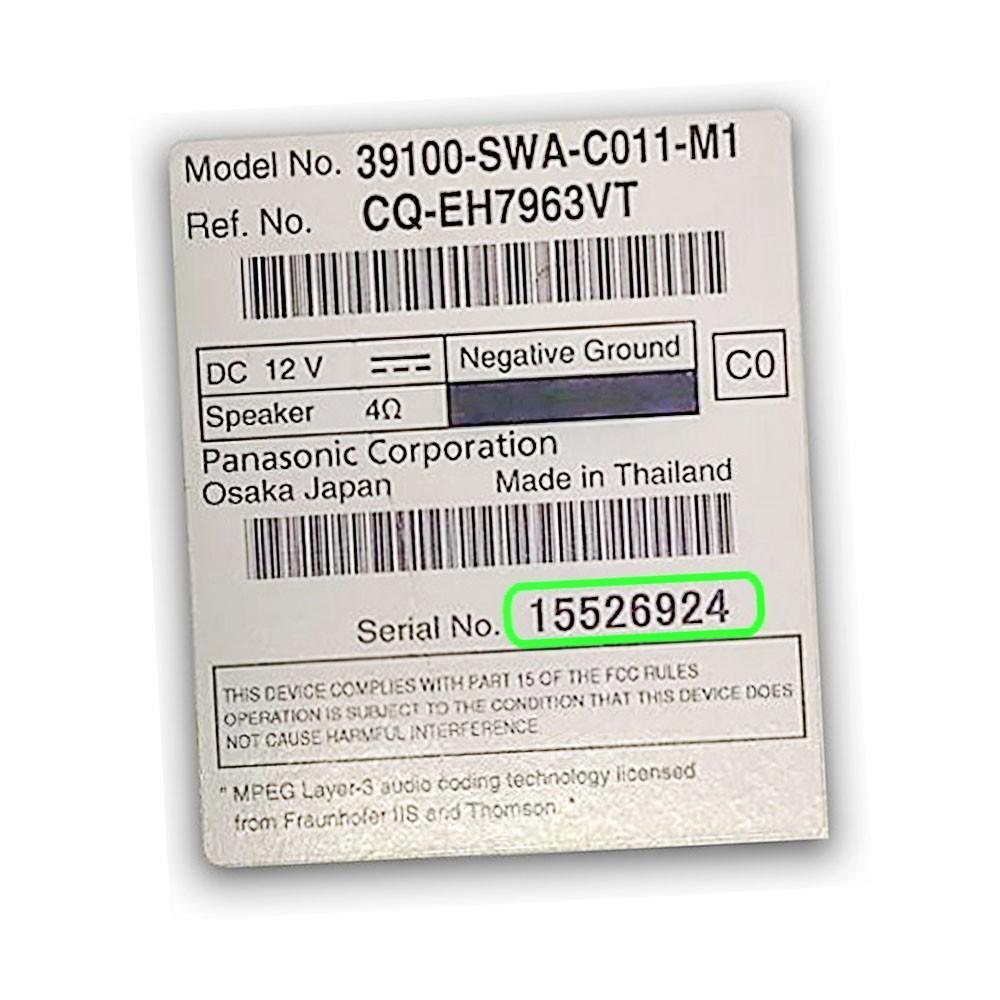 Foto4 - Código de Desbloqueio de Rádio Original Honda CR-V