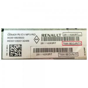 Foto5 - Código de Desbloqueio de Rádio Original Renault