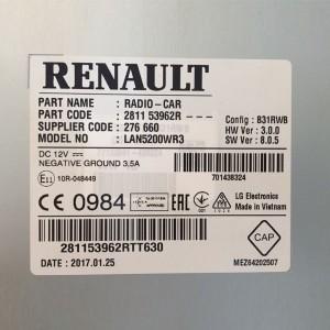 Foto3 - Código de Desbloqueio de Rádio Original Renault