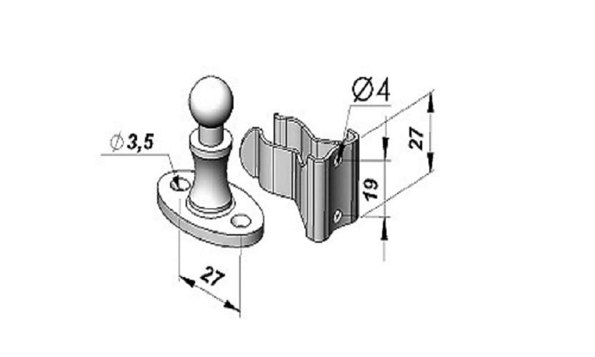 Foto2 - Prendedor de porta esférico