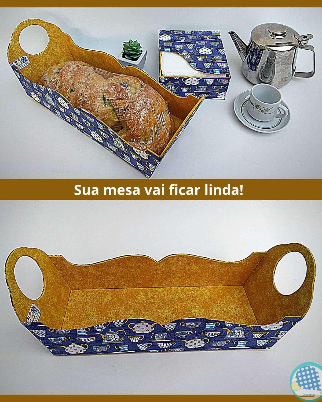Imagem do produto KIT Cozinha Porta Pão e Guardanapo