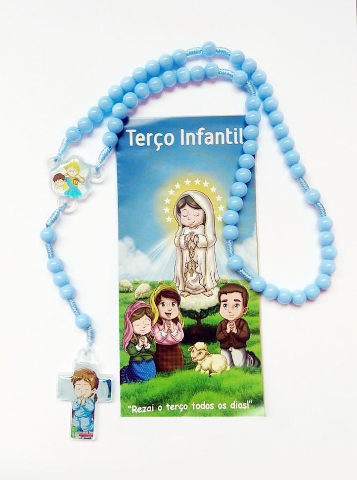Foto2 - Terço Infantil Azul
