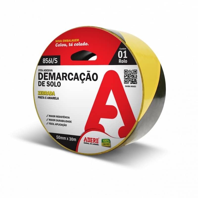 Imagem do produto Fita de Demarcação de Solo Zebrada - Adere