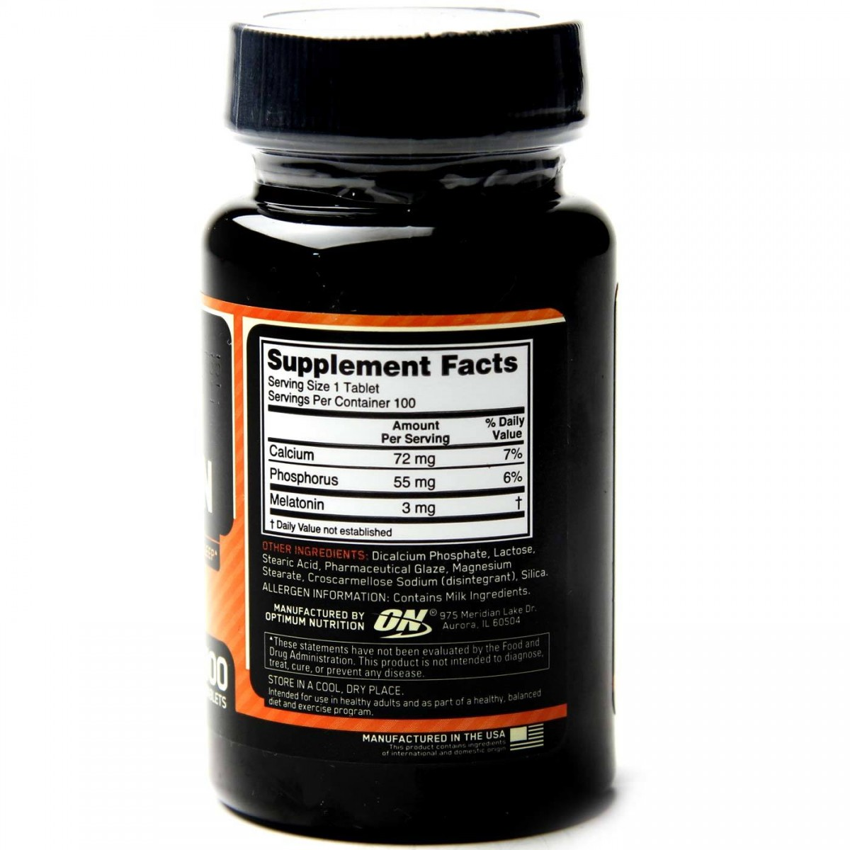 Foto2 - Melatonina - Optimum Nutrition - 3mg ON